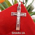Нательный крест из серебра с распятием - Серебряный крестик мужской, фото 5