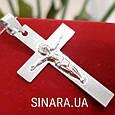 Нательный крест из серебра с распятием - Серебряный крестик мужской, фото 2