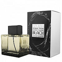 Мужская туалетная вода Antonio Banderas Splash Seduction Black 100 ml (Бандерас Сплеш Блек) Реплика