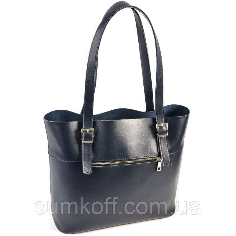 bac75950de6b Синяя кожаная сумка женская с длинными ручками: продажа, цена в ...