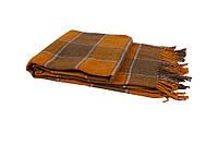 Плед 140х200 акрил/шерсть Vladi Palermo желтый-коричневый