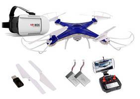 Квадрокоптер дрон Sky Hero LED камера WiFi очки Gogle VR 3D