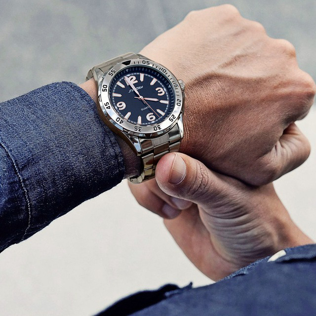SINOBI Relogio masculino. Мужские,  спортивные модные, светящиеся, водонепроницаемые, наручные часы.