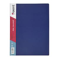 Папка-дисплей 30 файлов синяя Axent 1030-02-A