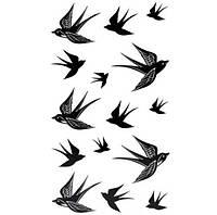 """Татуювання - наклейка """"Ластівки"""""""