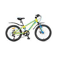 """Детский велосипед Avanti Turbo Disk 20"""" желто-синий"""