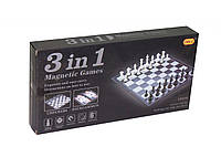Шахматы пластик, магнит. 3 в 1 ( Шахматы, шашки, нарды)