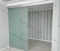 Стеклянные раздвижные двери в гардеробную комнату