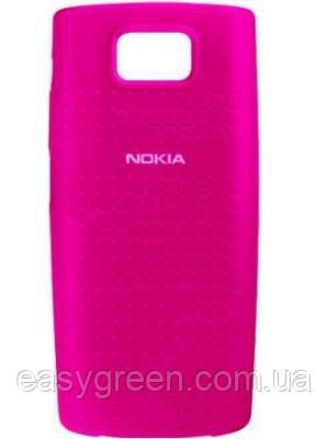 Nokia X3 Силикон  розовый арт 13015