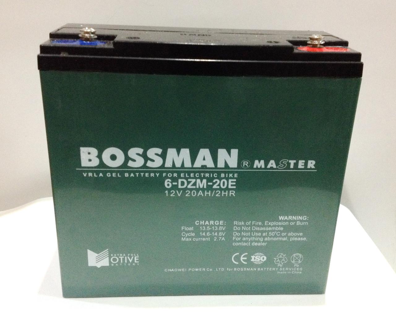 "Аккумулятор 12V 20Ah Bossman-Master 6DZM20  - Интернет-магазин ""NikMoto"" в Черкассах"