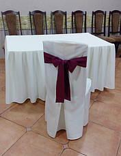 Чехол на Деревянный стул из прочной лёгкой ткани с Хлястиком, фото 3