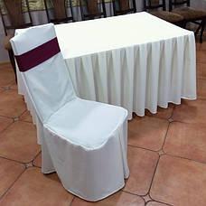 Чохол на Дерев'яний стілець з міцної легкої тканини з Хлястиком, фото 2