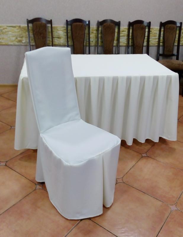 Чехол на Деревянный стул из прочной лёгкой ткани с Хлястиком