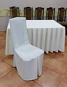 Чехол на Деревянный стул из прочной лёгкой ткани с Поясом-Бантом