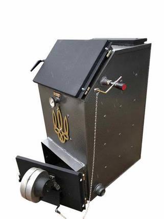 Твердотопливный котел шахтного типа Холмова УНК 10кВт (Украинский народный котел), фото 2