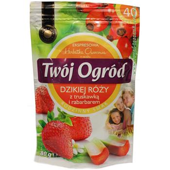 Чай фруктовый Twoj Ogrod Truskawka (клубника, дикая роза, ревень) 40 пакетов Польша