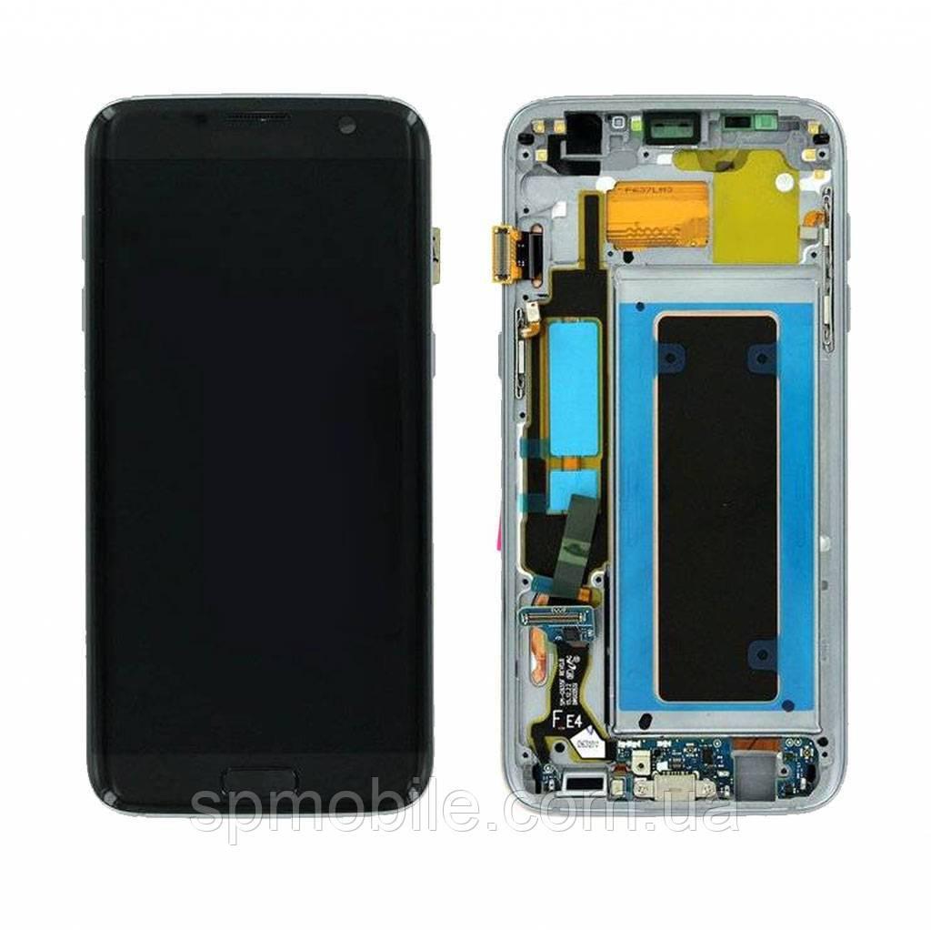 Дисплей Samsung G935 Galaxy S7 Edge з сенсором Чорний Black оригінал , GH97-18533A