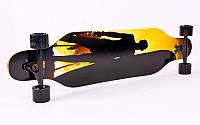 Лонгборд Бордволкинг (скейтборд в сборе) (р-р 100х25 см)