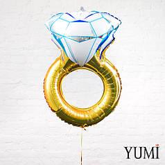 Фольгированный шарик Обручальное кольцо золото