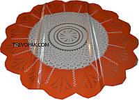 """Салфетки для цветов """"Мозаика оранжевая"""" (уп.100шт) 50см"""
