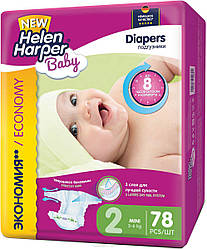 Подгузники Helen Harper Baby Mini 2 (3-6 кг) 78 шт.