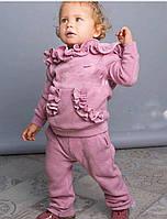 Детский костюм с капюшоном с декором - рюши, в расцветках