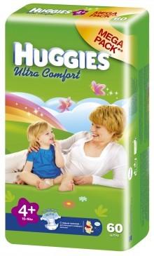 "Подгузники ""Huggies UltraComfort"" 4+ (10-16кг) - 60шт"