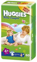 "Подгузники ""Huggies UltraComfort"" 4+ (10-16кг) - 60шт"