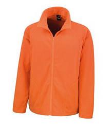 Мужская флисовая кофта на молнии оранжевая 114-44
