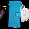 Чехол Книжка для Lenovo A7000 / K3 Note / K50 кожа PU Clover голубой