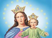 Авторская канва « Діва Марія з Ісусом» (артикул A-506)
