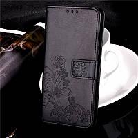 Чехол Книжка для Lenovo A7000 / K3 Note / K50 кожа PU Clover черный, фото 1