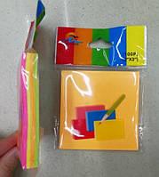Бумага для заметок цветная 7.5х7.5см липкий край (9003-10) уп12
