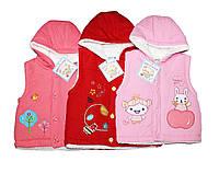 Безрукавка детская теплая для девочки. 3 цвета 3 размера. БаксиВан