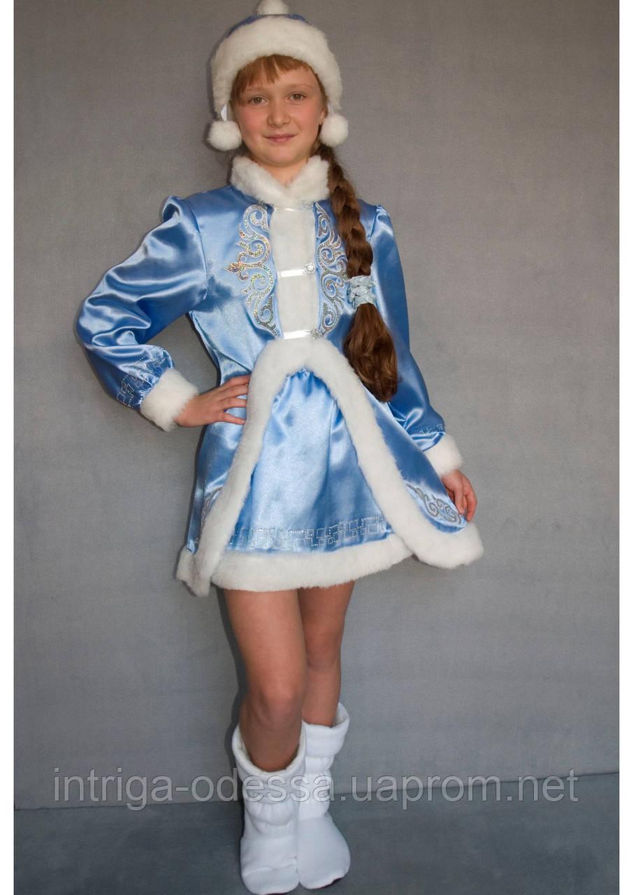 Карнавальный костюм Снегурочка №3/1 (голубой)