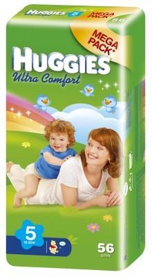 "Подгузники ""Huggies UltraComfort"" 5 (11-22кг) - 56шт"