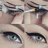 Набор многоразовых трафарет стрелок для глаз