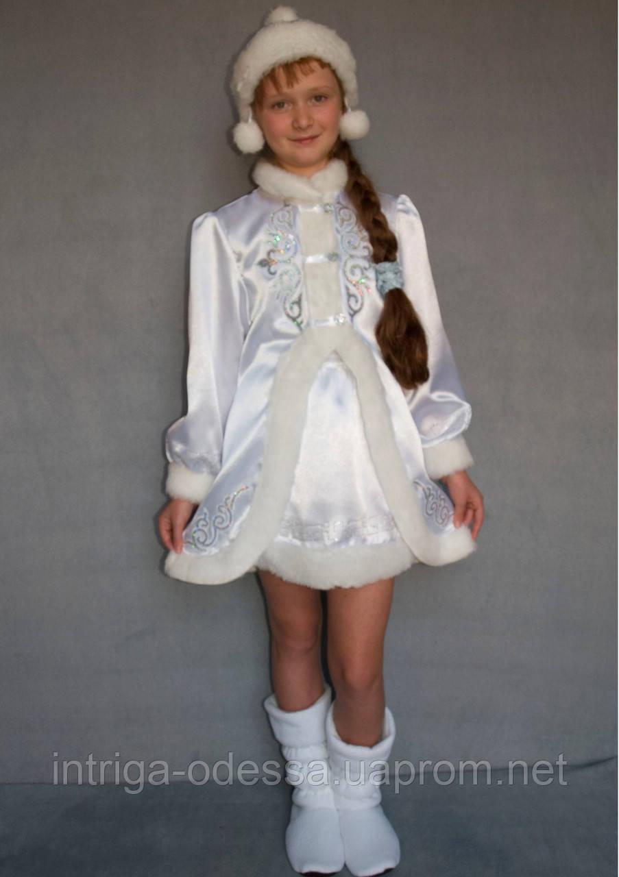 Карнавальный костюм Снегурочка №3/1 (белый)