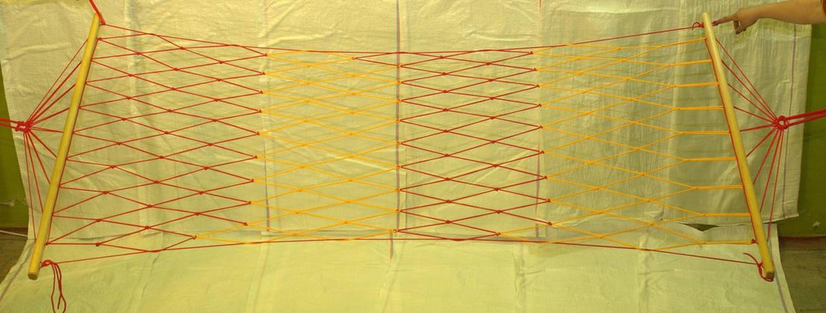 Гамак сетка Эконом 3 одноместный чехол в подарок, фото 2