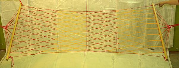 Гамак сетка Рыбацкий 3 одноместный чехол в подарок, фото 2