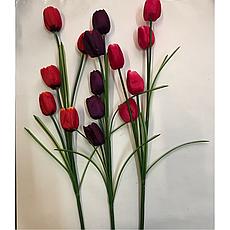 Искусственный тюльпан,ветка искусственного тюльпана, фото 3