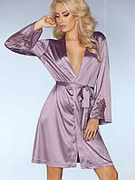 Нежный женский фиолетовый халат, фото 1