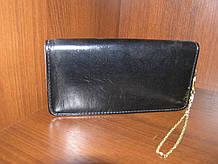 Гаманець-клатч жіночий 20,5х11х3 див. однотонний Чорний
