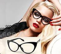 """Имиджевые очки """"кошачий глаз"""" с прозрачными линзами"""