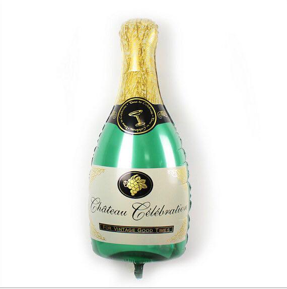 Фольгированный шарик Бутылка Шампанского большой, 100 * 48 см