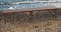 Скамья Афродита PLRZB-18310 коричневый ротанг для открытых площадок и пикника