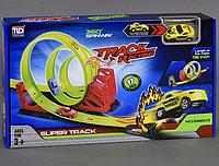 Трек инерционный,1 машинка, 17 деталей.Детский игровой набор трек.Игрушка для мальчиков.