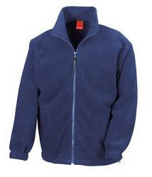 Мужская плотная флисовая кофта на молнии синяя 0360-32