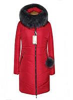 Стильная женская куртка с мехом чернобурка