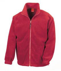 Мужская плотная флисовая кофта на молнии красная 0360-40